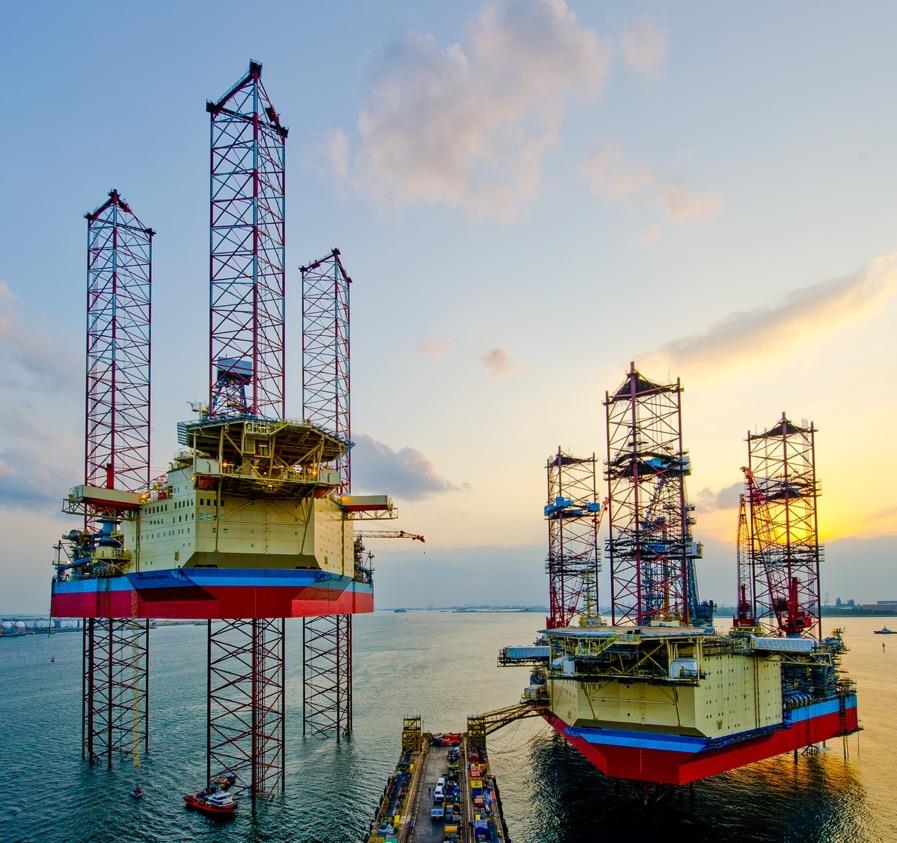 Maersk Drilling's jack-up rigs