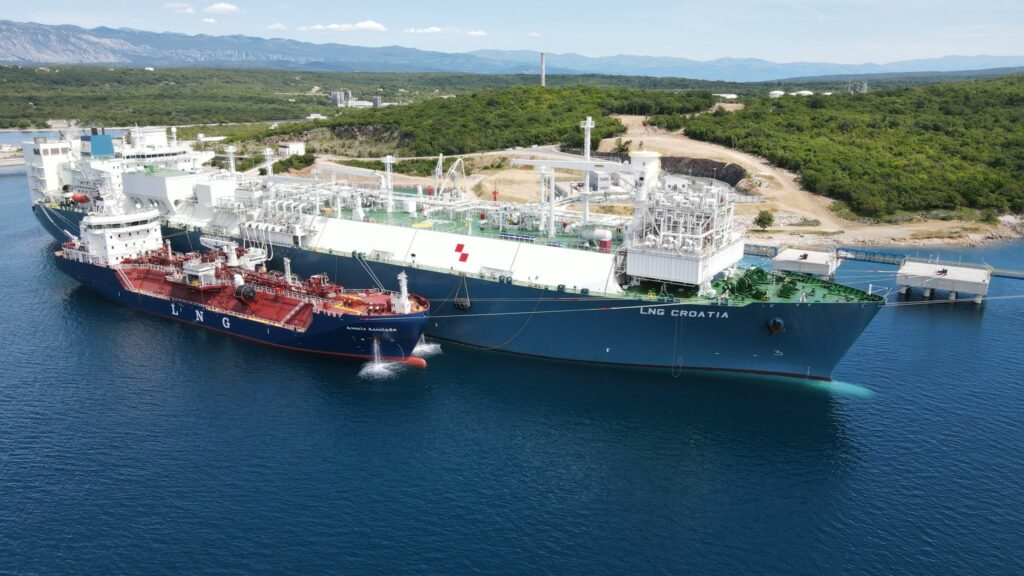 Croatia's first liquefied natural gas (LNG) import terminal, located on the island of Krk has completed its first small-scale reloading operation.