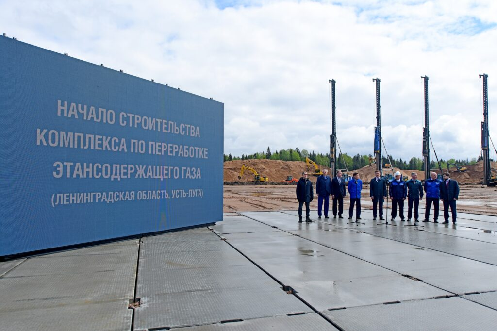 Gazprom starts construction of gas complex at Ust-Luga