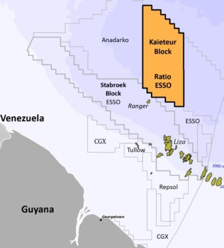 Kaieteur block off Guyana