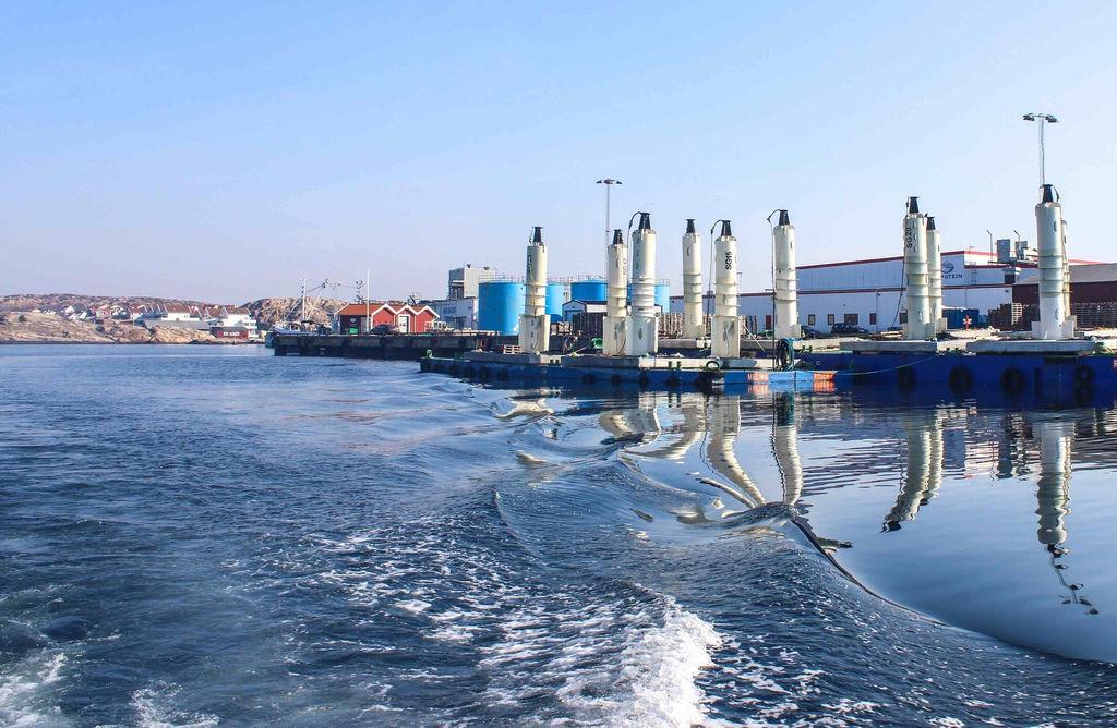Photo showing Seabased's wave power generators (Courtesy of Seabased)