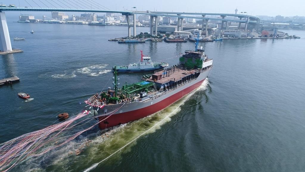 LNG在日本的横滨港开始的行动