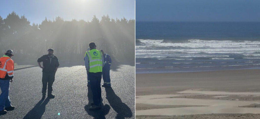Construction for the PacWave South starts at Driftwood (Courtesy of PacWave)