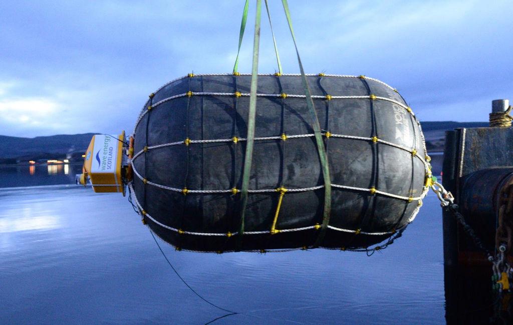 Photo showing TTI's NetBuoy (Courtesy of Wave Energy Scotland)