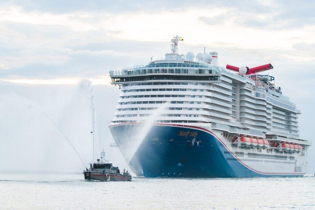 LNG-powered Mardi Gras makes U.S. debut docking