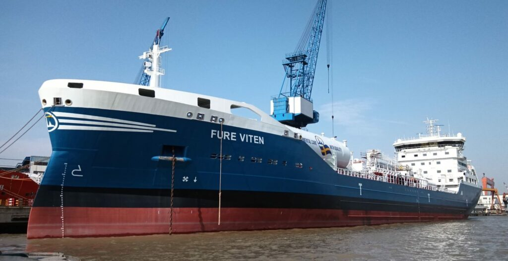LNG-powered tanker Fure Viten ready for maiden voyage