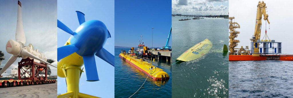 Photo showing tidal energy turbines developed by TIGER project partners (Courtesy of TIGER)