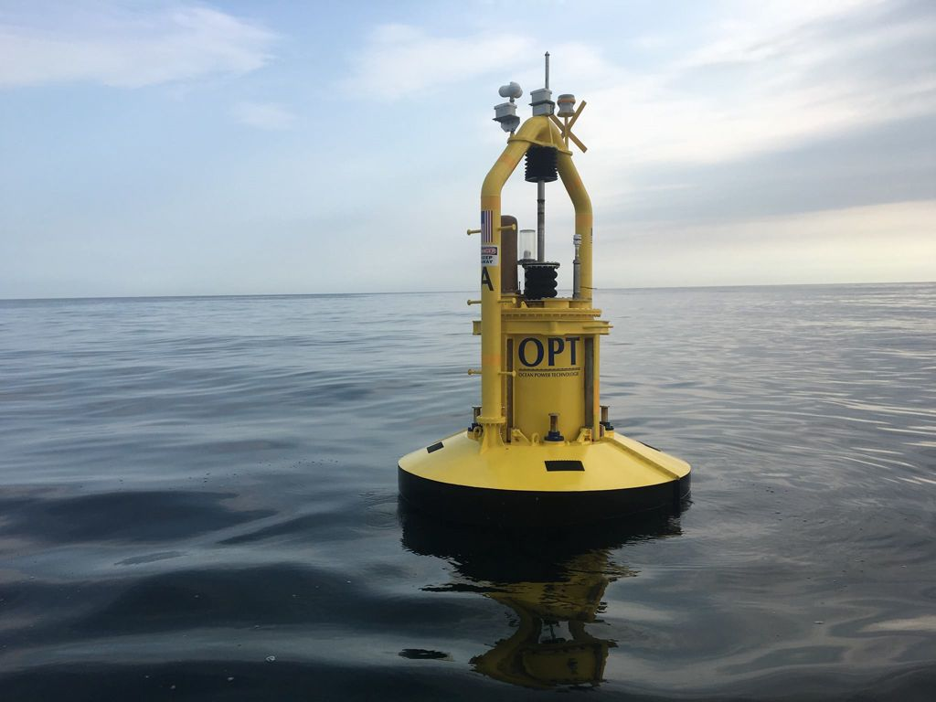 Photo showing OPT's PowerBuoy (Courtesy of OPT)