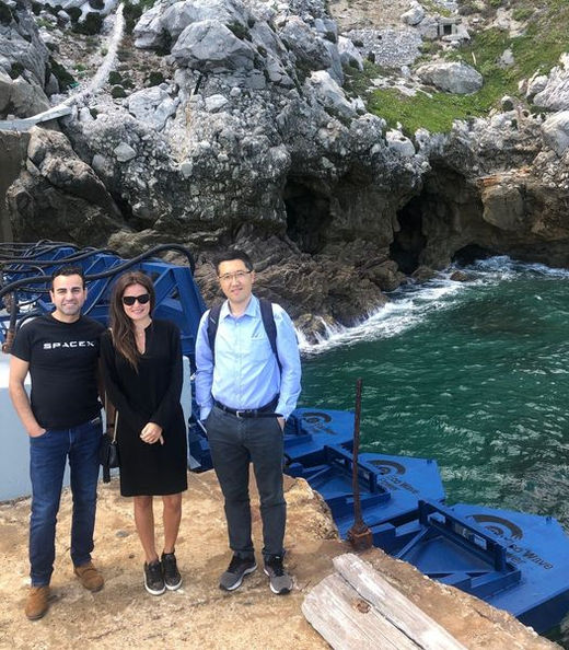 L to R: Kamyar Mehran; Inna Braverman; and Guang Li (Courtesy of Eco Wave Power)