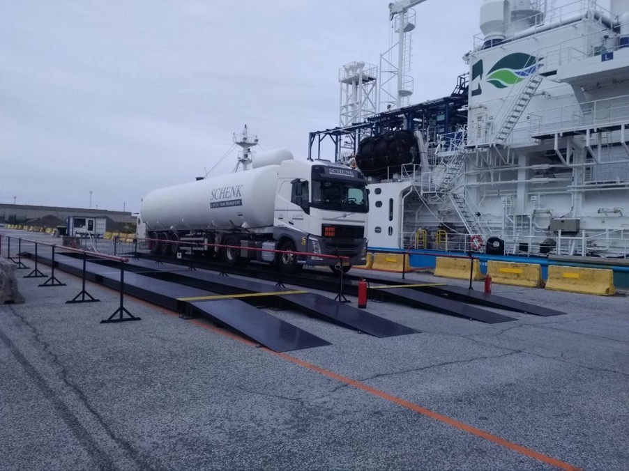 Titan LNG's interim solution launched at Port of Zeebrugge