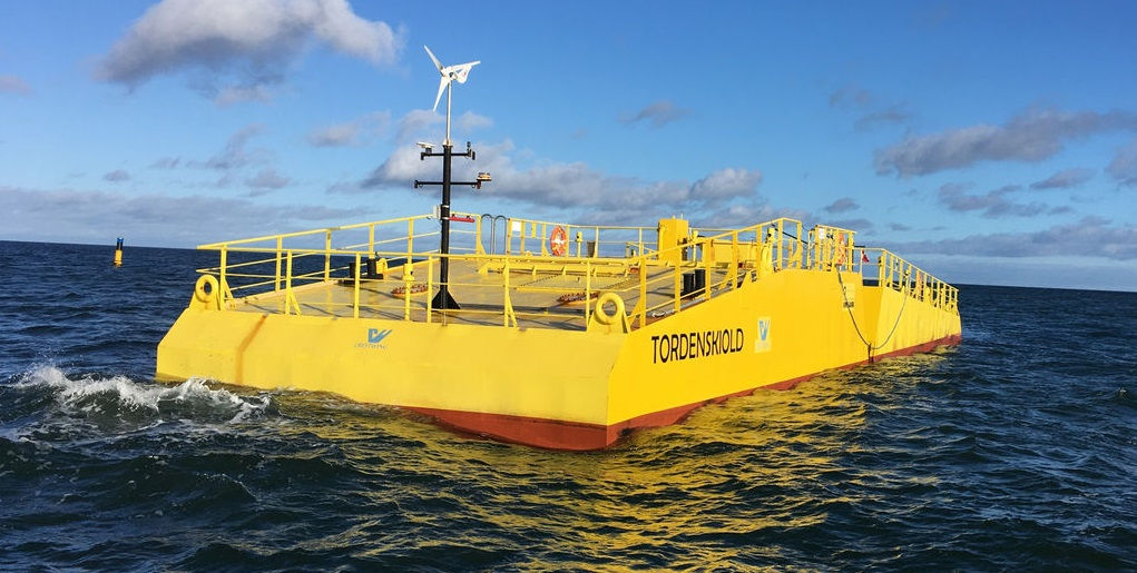Illustration/Wave energy device developed by Danish company Crestwing (Courtesy of Crestwing)