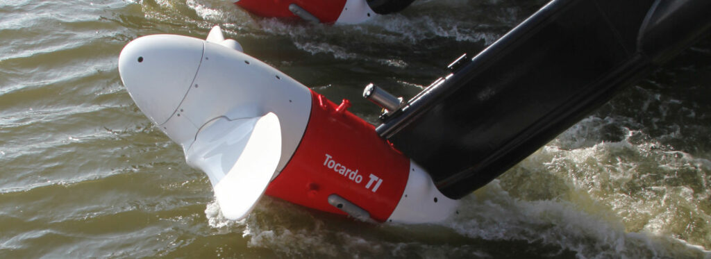 Photo showing Tocardo's T-1 tidal turbine (Courtesy of Tocardo)
