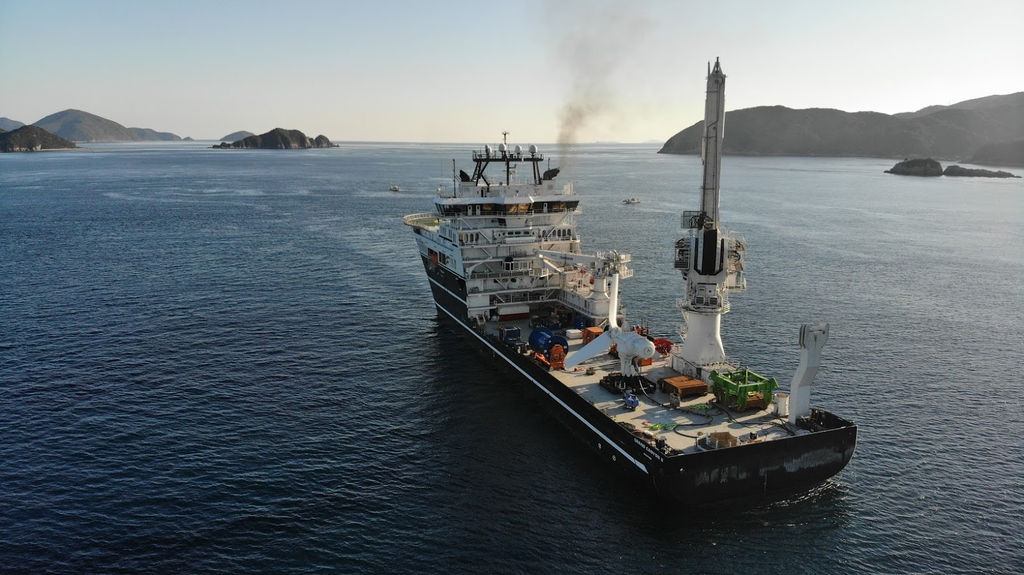 Photo showing SIMEC Atlantis' AR500 on its way to the installation site in Japan (Courtesy of SIMEC Atlantis Energy)