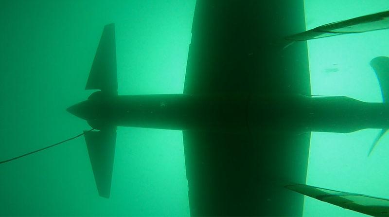 Photo showing the submerged DG100 system (Courtesy of Minesto)