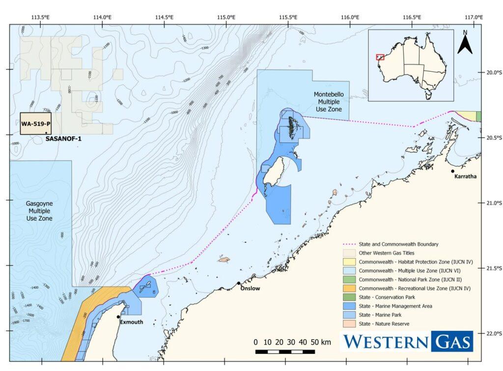 WA-519-P where Sasanof prospect is located - Western Gas