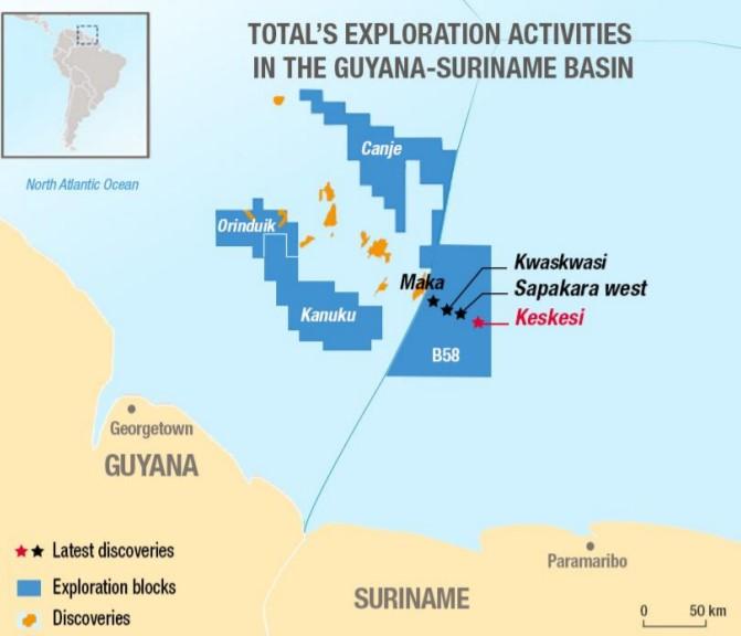 Block 58 off Suriname - TotalEnergies