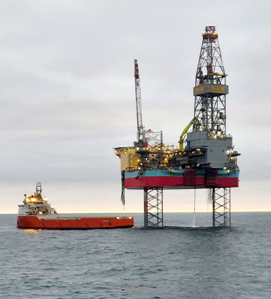 Maersk Resilient jack-up rig; Source: Serica Energy