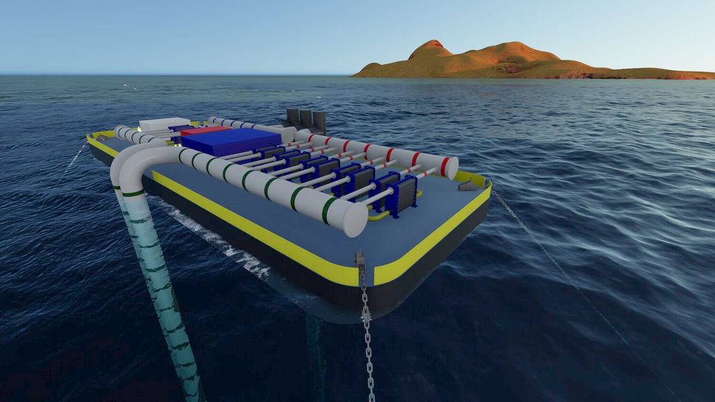 Global OTEC Resources' floating OTEC concept (Courtesy of Global OTEC Resources)