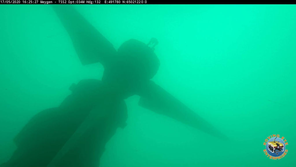 Illustration/Submerged tidal turbine at MeyGen site (Courtesy of SIMEC Atlantis Energy)