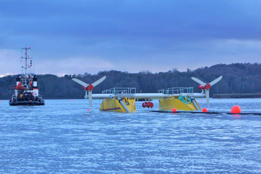 Illustration/Subhub tidal energy platform (Courtesy of QED Naval)
