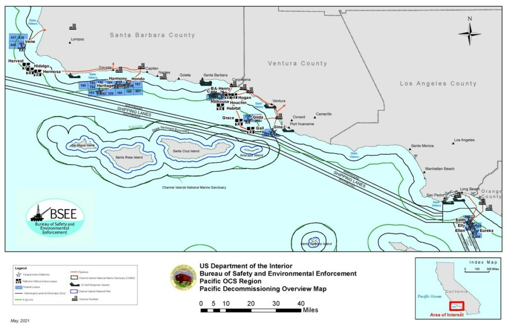 Pacific Decommissioning Overview Map