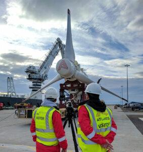 Photo showing the AR1500 tidal turbine used in the MeyGen project (Courtesy of SIMEC Atlantis Energy)