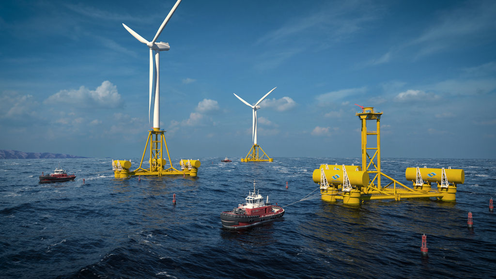 Illustration/Welsh-based Marine Power Systems (MPS) is developing wave, floating wind, and hybrid solutions combining both renewable energy technologies (Courtesy of MPS)