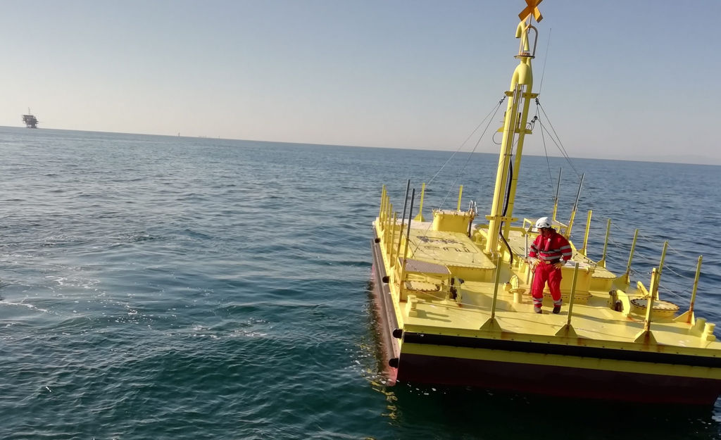 Illustration/The Inertial Sea Wave Energy Converter (ISWEC), developed by Italian energy giant Eni in collaboration with Politecnico di Torino