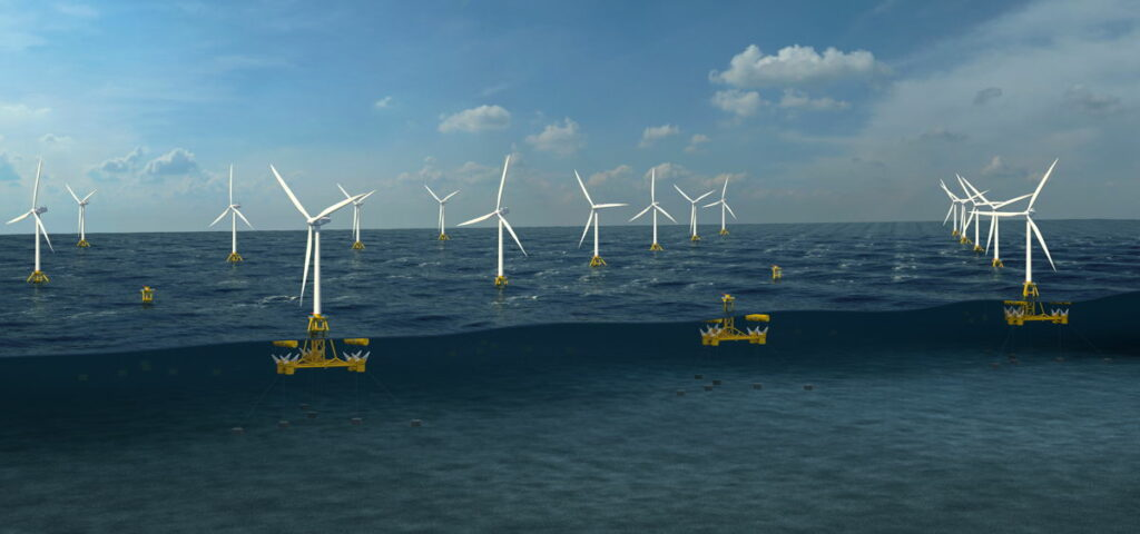 Image showing DualSub wave and wind renewable energy farm (Courtesy of MPS)