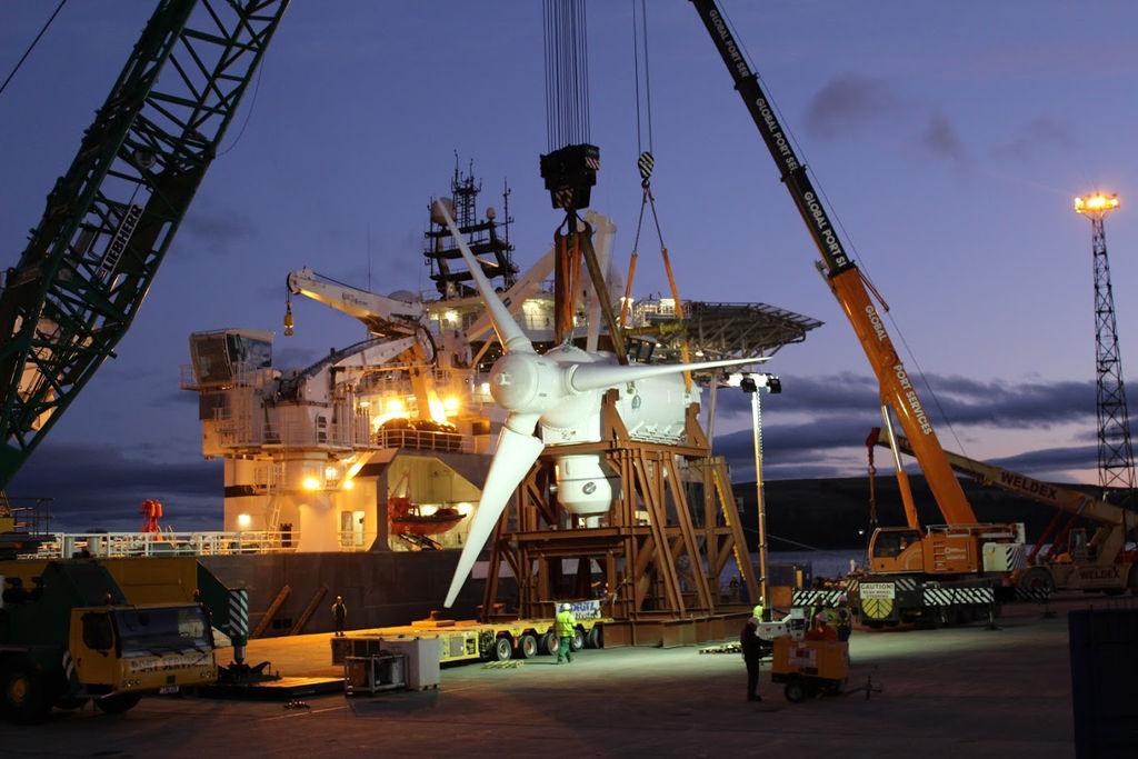 Illustration/AHH tidal turbine for MeyGen project (Courtesy of SIMEC Atlantis Energy)