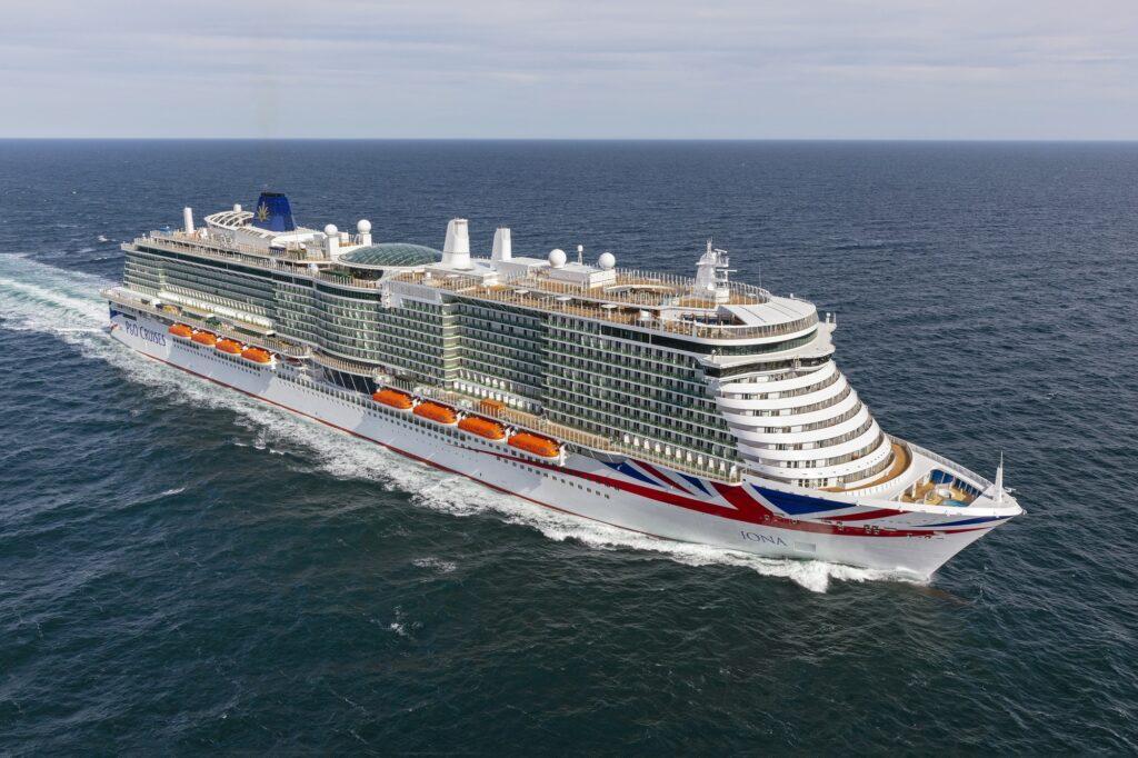 P&O Cruises' LNG-powered cruise ship Iona sails maiden voyage