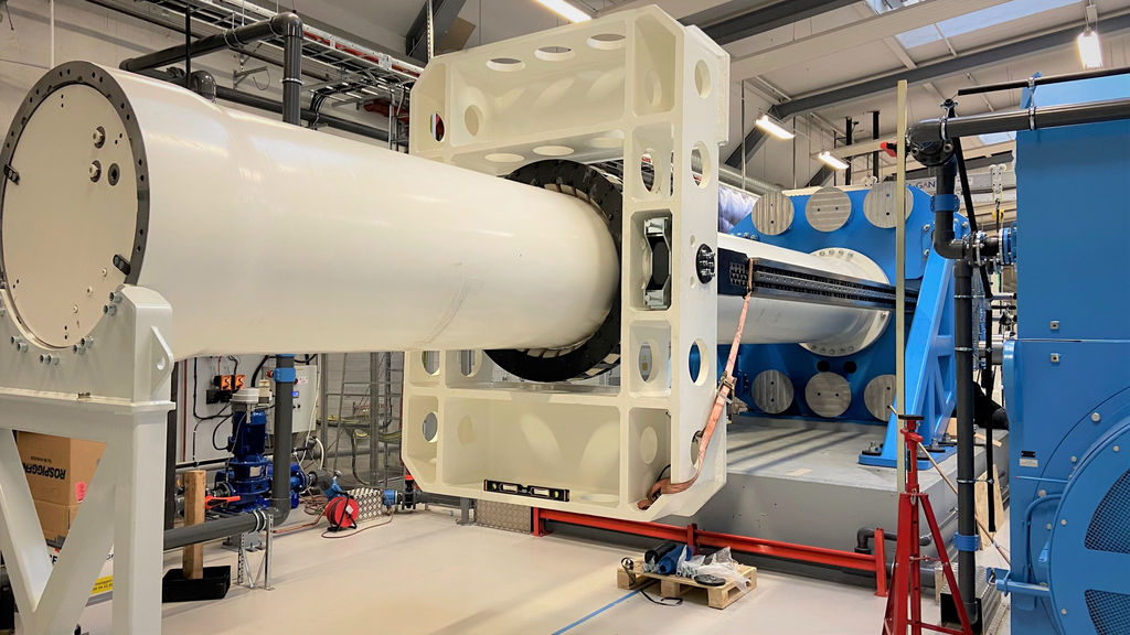 Photo showing CorPower's wave energy test-rig in Stockholm (Courtesy of CorPower Ocean)