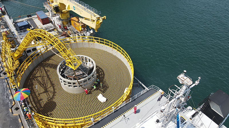 LS Cable & System is loading submarine cables at the Port of Donghae in Donghae City (Credit: LS Cable & System)