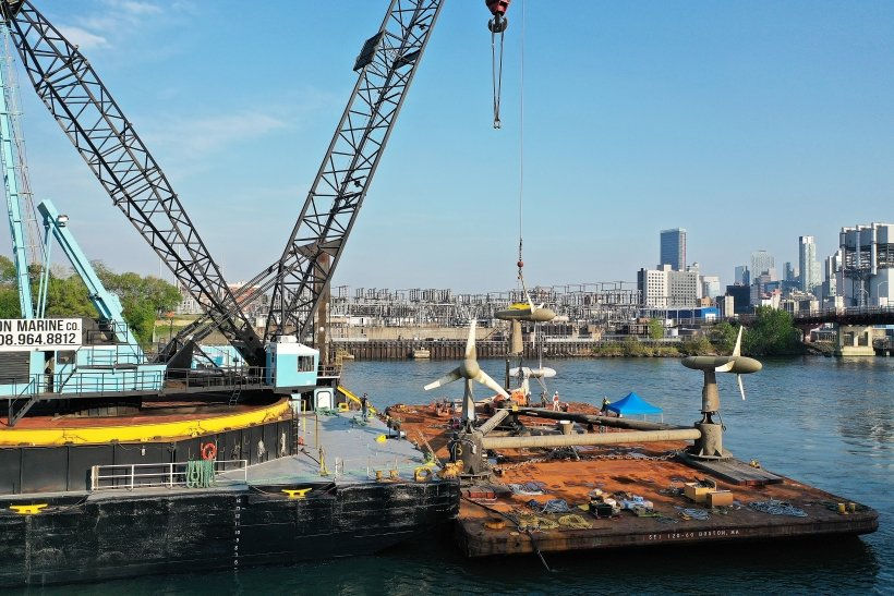 Photo showing Verdan Power's tidal turbines after an R&R operation earlier in 2021 (Courtesy of U.S. DOE)