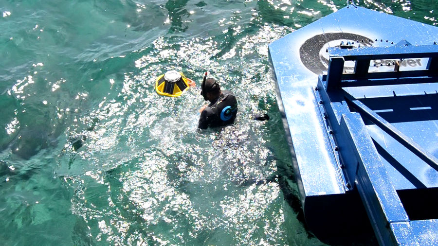 Photo showing the measurement equipment installation in Gibraltar (Courtesy of Eco Wave Power)