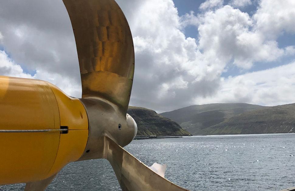 Photo showing the turbine mounted on Minesto's Deep Green tidal kite (Courtesy of Minesto)