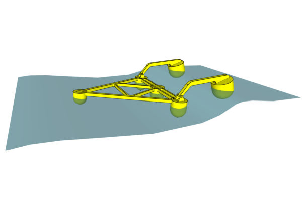 M4 wave device design (Courtesy of Wave Energy Research Centre)