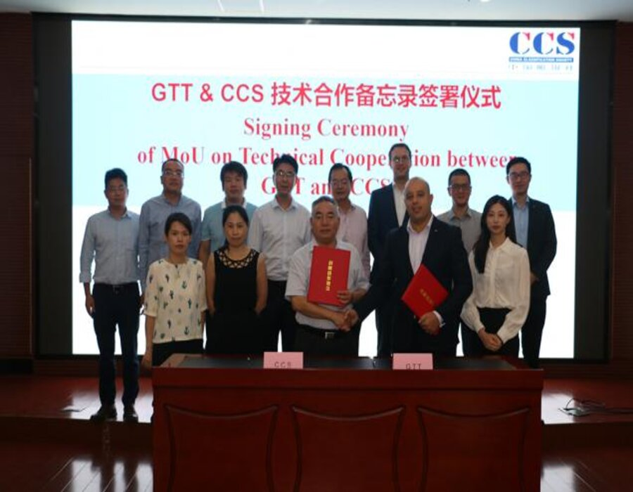 GTT and CCS to collaborate on China's LNG vessels