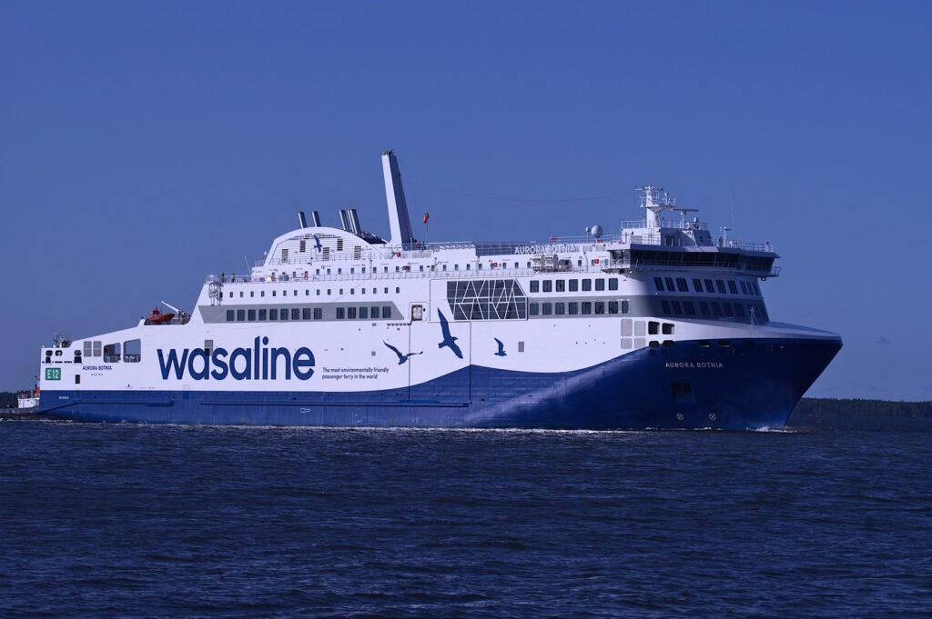 Rauma; Wasaline's LNG-powered ferry Aurora Botnia delivered