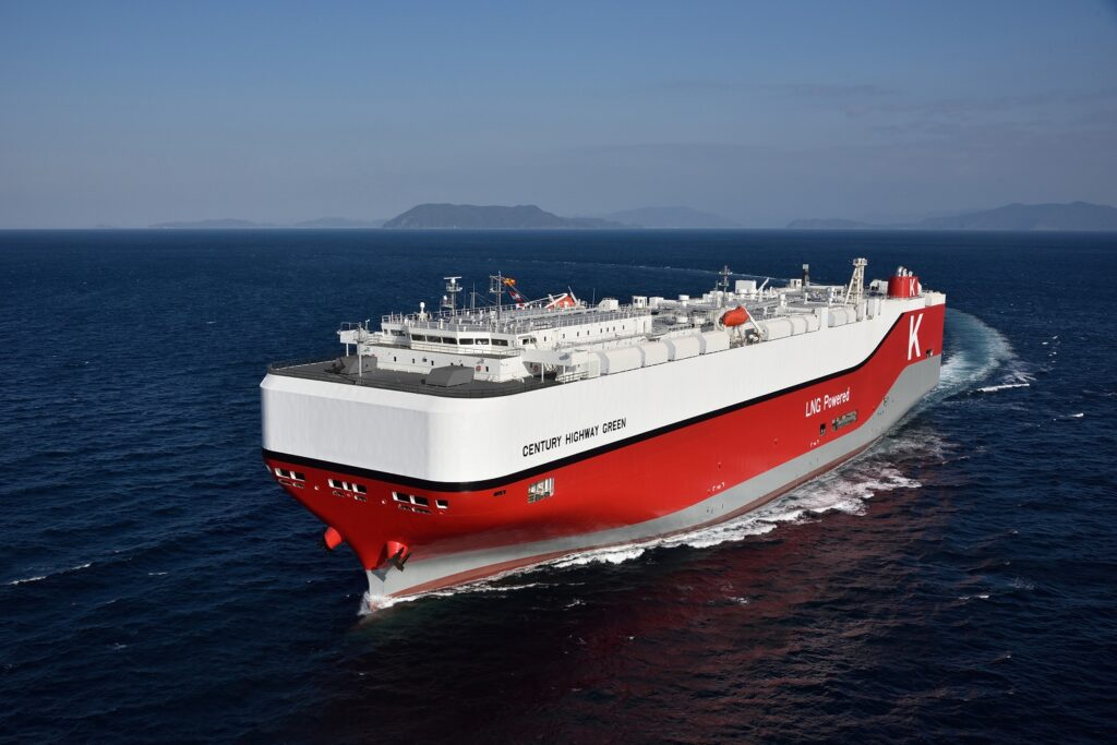 K Line secures climate transition loan for LNG-powered car carrier