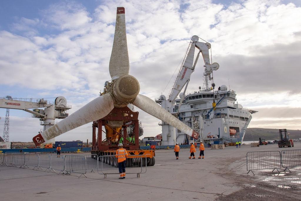 Illustration/Retrieved MeyGen's AR15000 tidal turbine (Courtesy of SIMEC Atlantis)