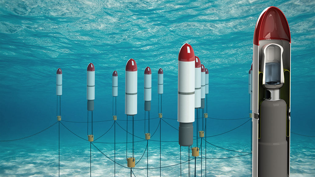The concept for Symphony Wave Power array of devices (Courtesy of Teamwork Technology)