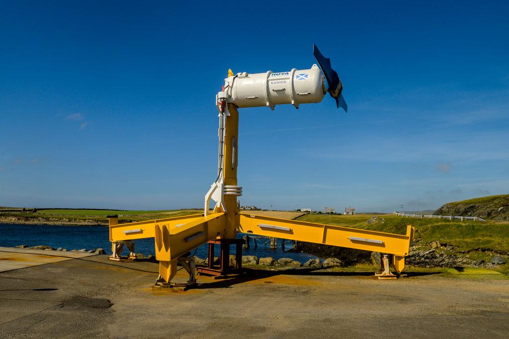 Photo showing Nova Innovation's tidal turbine (Courtesy of Nova Innovation)