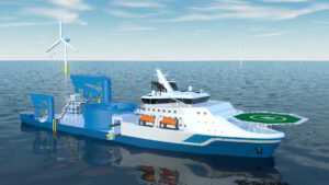 An image rendering new cable laying vessel from High Tien Offshore