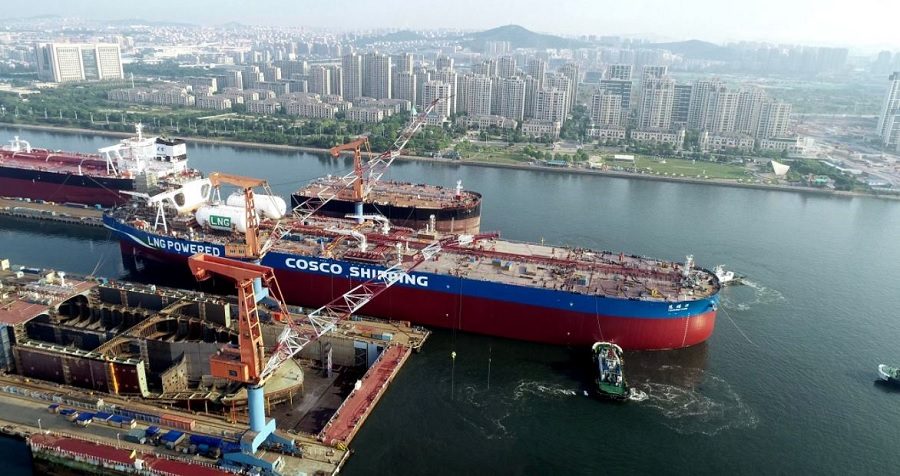 DSCI; World's 1st LNG-powered VLCC wraps up sea trials
