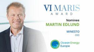 Minesto CEO nominated for 2021 Vi Maris Award