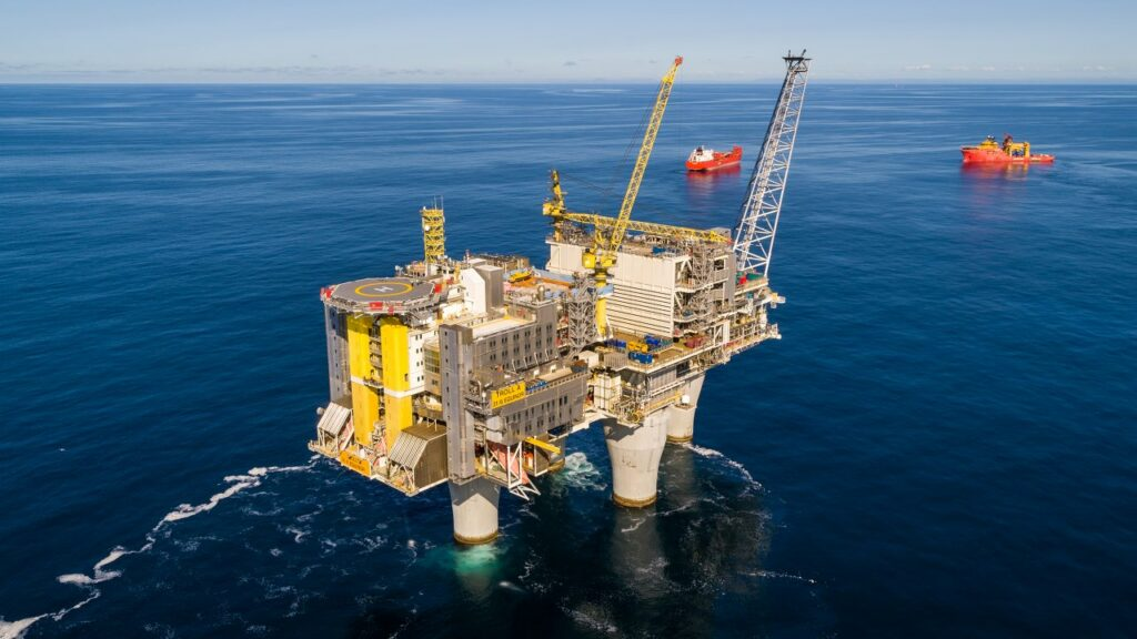 The Troll A platform in the North Sea - Equinor