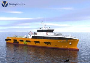 Strategic Marine's new 42m Gen 4 Fast Crew Boat