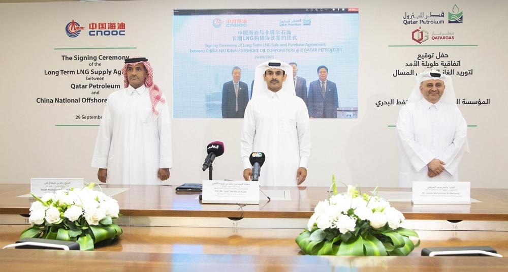 Qatar Petroleum to supply 3.5 MTPA of LNG to China's CNOOC