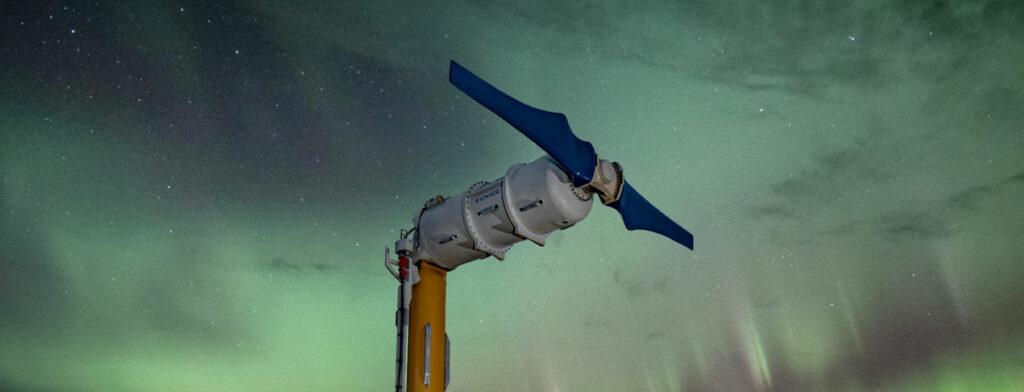 Illustration/Nova Innovation's tidal energy turbine (Courtesy of Crown Estate Scotland)